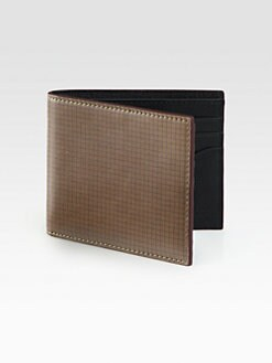 Jack Spade - Printed Leather Bill Holder