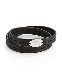 Fendi - Selleria Leather Bracelet