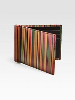 Paul Smith - Striped Money Clip Wallet