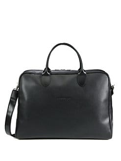 Longchamp - Veau Foulonne Leather Rounded Briefcase