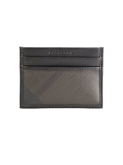 Burberry - Smoked Check Credit Card Case