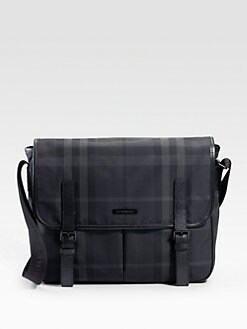Burberry - Beat Check Nylon Messenger Bag