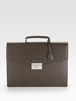 Prada - Saffiano Double-Gusset Briefcase