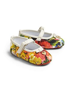 Dolce & Gabbana - Infant's Floral Mary Jane Shoes