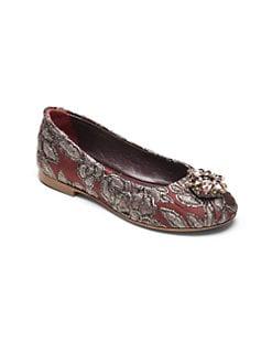 Dolce & Gabbana - Toddler's & Little Girl's Metallic Brocade Ballet Flats