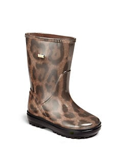 Dolce & Gabbana - Infant's, Toddler's & Girl's Cheetah-Print Rain Boots
