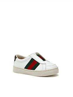Gucci - Infant's & Toddler's Brooklyn Leather Signature Web Sneakers