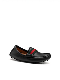 Gucci - Toddler's Signature Web Moccasin Drivers