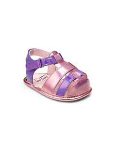 Stuart Weitzman - Infant's Metallic Fisherman Sandals