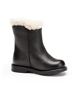 Gucci - Infant & Toddler Girl's Leather Boots