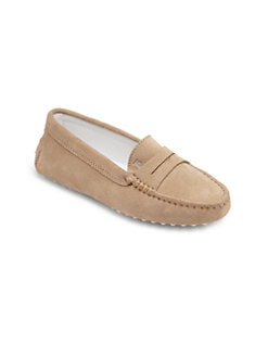 Tod's - Kid's Suede Driver Penny Loafers