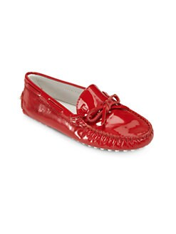 Tod's - Girl's Patent Leather Driver Moccasins