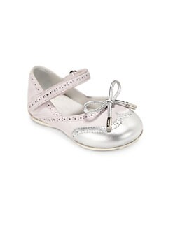 Tod's - Infant's & Toddler's Cap-Toe Ballet Flats