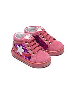 Naturino - Infant's & Toddler's Glitter Star High-Top Sneakers