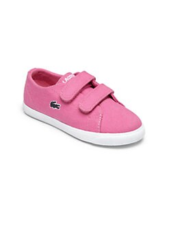Lacoste - Infant's & Toddler's Cotton Canvas Strap Sneakers