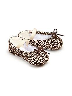 Bloch - Infant's Arabella Leopard Print Leather Ballet Flats