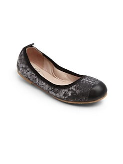 Bloch - Infant's, Toddler's & Kid's Mia Snakeskin-Embossed Leather Ballerina Flats