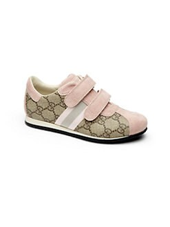 Gucci - Girl's GG Icon Grip-Tape Sneakers