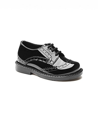 Infant's  Toddler's Patent Leather Brogue Shoes