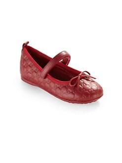 Gucci - Infant's & Toddler's Microguccissma Ballet Flats