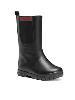 Gucci - Infant's & Toddler Girl's Signature Web Leather Boots