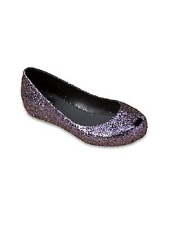 Mini Melissa - Girl's Ultragirl Glitter Flats