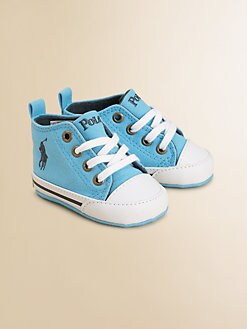 Ralph Lauren - Infant's Canvas Lace-Up High-Top Sneakers