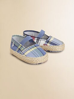 Ralph Lauren - Infant's Plaid Espadrille Shoes