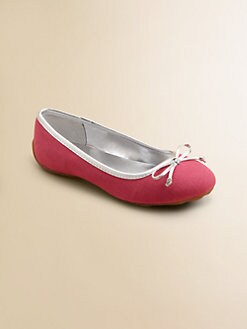 Ralph Lauren - Girl's Allie Canvas Ballet Flats