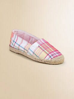 Ralph Lauren - Infant's & Toddler Girl's Plaid Bowman Espadrille Flats