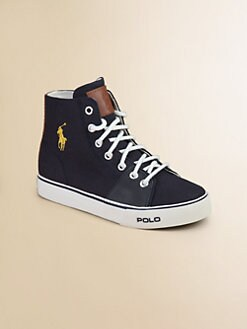 Ralph Lauren - Infant's & Toddler's Cantor High-Top Canvas Sneakers