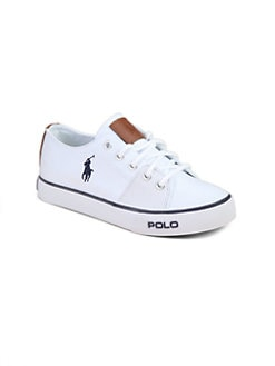 Ralph Lauren - Kid's Cantor Lace-Up Canvas Sneakers