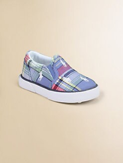 Ralph Lauren - Infant's & Toddler's Plaid Bal Harbour Repeat Sneakers