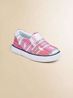 Ralph Lauren - Infant's & Toddler Girl's Plaid Bal Harbour Repeat Sneakers