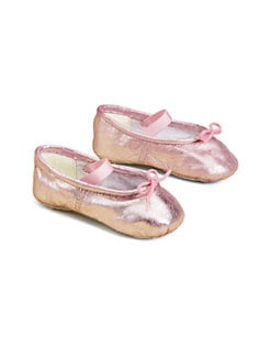 Bloch - Infant's Angelica Metallic Leather Ballerina Flats