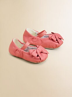Bloch - Infant's Ayva Leather Bow Ballet Flats