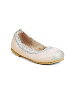 Bloch - Infant's & Toddler's Crystelle Glitter-Trimmed Sheepskin Ballet Flats