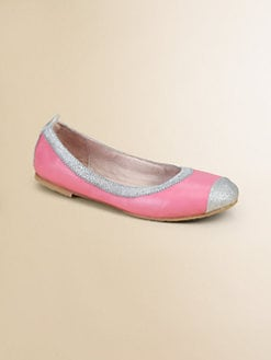 Bloch - Girl's Crystelle Glitter-Trimmed Sheepskin Ballet Flats