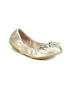 Bloch - Girl's Raphaela Metallic Leather Ballet Flats