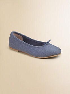 Bloch - Girl's Jeanne Denim Ballet Flats