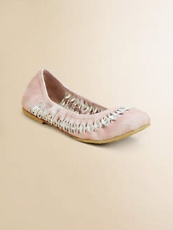 Bloch - Girl's Allanah Braided Suede Flats