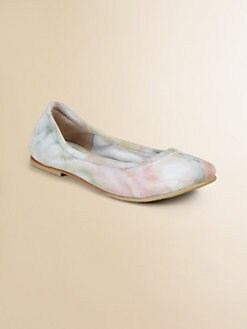 Bloch - Girl's Thalia Tie-Dyed Suede Flats