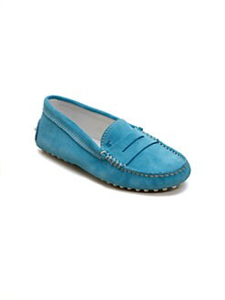 Tod's - Girl's Gommini Suede Moccasin Loafers