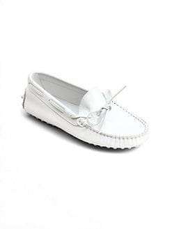 Tod's - Girl's Gommini Front Tie Patent Leather Moccasin Loafers