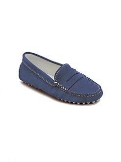 Tod's - Boy's Gommini Suede Moccasin Loafers