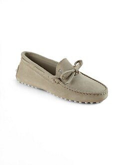 Tod's - Boy's Gommini Suede Front Tie Mocassins