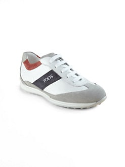 Tod's - Boy's Laced Leather Sneakers