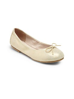 Bloch - Toddler's & Girl's Sirenetta Shimmery Leather Ballet Flats