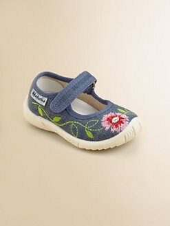 Naturino - Infant's & Toddler Girl's Embroidered Denim Mary Janes