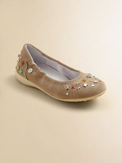 Naturino - Toddler's & Girl's Embellished Suede Ballet Flats